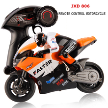 JXD 806 2.4G 4CH Radio Control 1 / 10 Scale RC Racing Speed Motocycle with LED Light Stunt Drift Motorcycles Boys Electric Toys(China (Mainland))