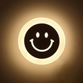Creative LED Smile Face Wall Lamp Simple Kids Cartoon Bed Room Light Ultra thin Acrylic Porch