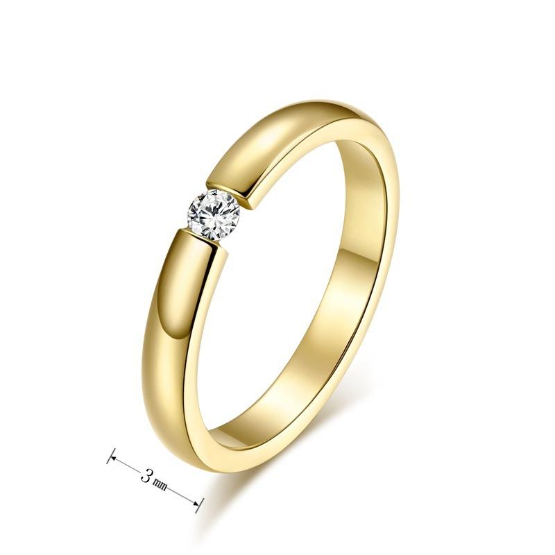 Aliexpress.com: Comprar De acero de corea oro de titanio anillo para ...