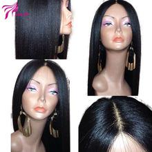 Italian Yaki Straight Full Lace Human Hair Wigs Virgin Hair Malaysian Lace Front Wigs Glueless Full Lace Wigs For Black Women(China (Mainland))