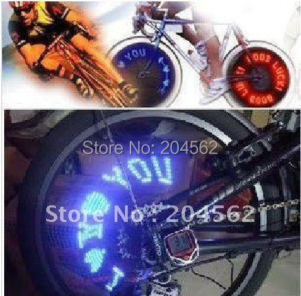 Free shipping/Bicycle LED spoke tire wheels Flash single color Light for bicycle,motorcycle Bicycle Wheels Light