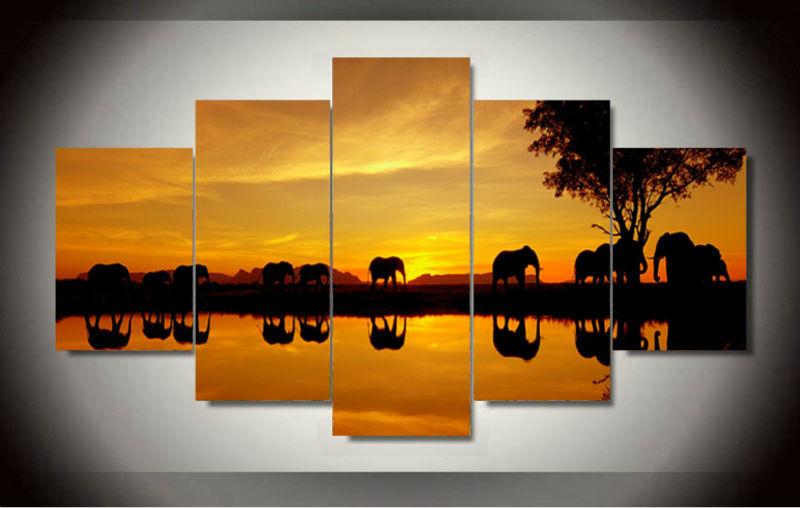 Online kaufen gro handel afrikanischer elefant kunst aus for Gerahmte bilder wohnzimmer