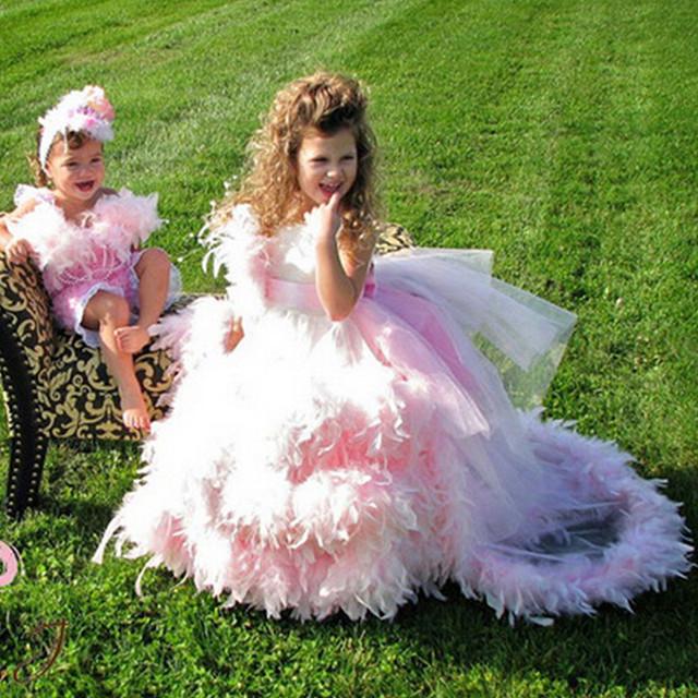 Очаровательный розовый бальное платье первое причастие платья для девочек 2016 роскошные ...