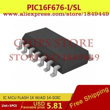 Integrated Circuits Original PIC16F676-I/SL IC MCU FLASH 1K W/AD 14-SOIC PIC16F676-I 16F676 PIC16F676 3PC - Chips Store store