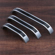 160mm Black Resin Bookcase Cabinet Door Pulls Chrome Villadom Scaly Drawer Furniture Hardware Knobs(China (Mainland))