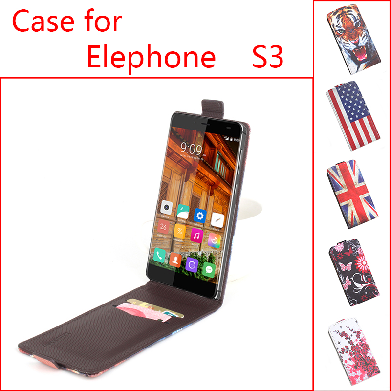 100% High Quality Luxury Leather Case For Elephone S3 / S 3 Mobile Phone Flip Cover Case With Card Slot Cellphone Shell Housing(China (Mainland))