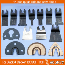 14 pcs quick change oscillating multi tool saw blade for multimaster power tools at good price  in free shipping