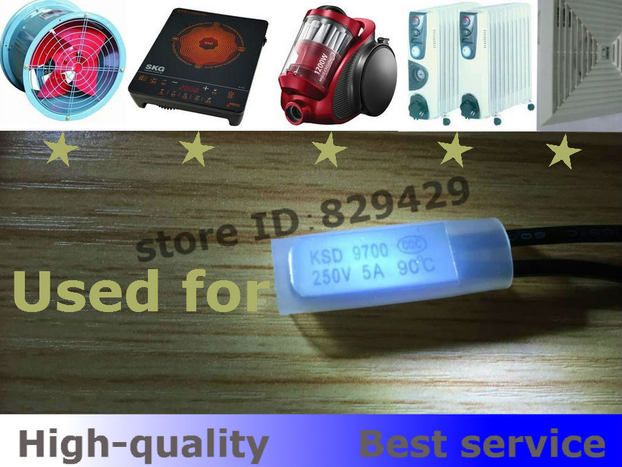 KSD9700  5A 250V  45C N/O Temperature control switch normally open Thermal protector    Iron 100pcs/lot New and original<br><br>Aliexpress