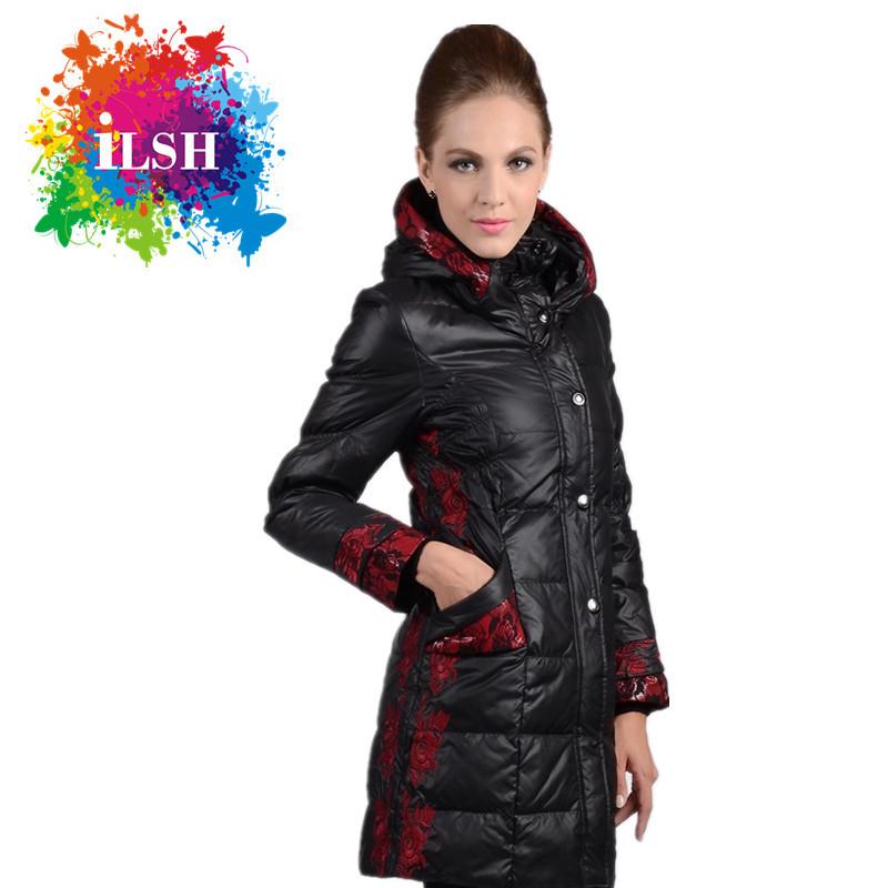 New Winter jacket Woman's Outerwear Slim Hooded Down Jacket Woman Warm Down Coat Women Light White Duck Down C0A424