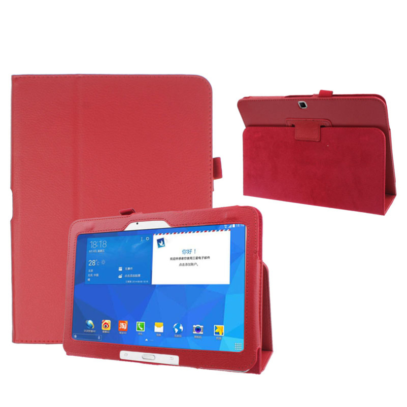 Hot selling Folio Leather Case Cover For Samsung Galaxy Tab 4 10 1 SM T530 Tablet