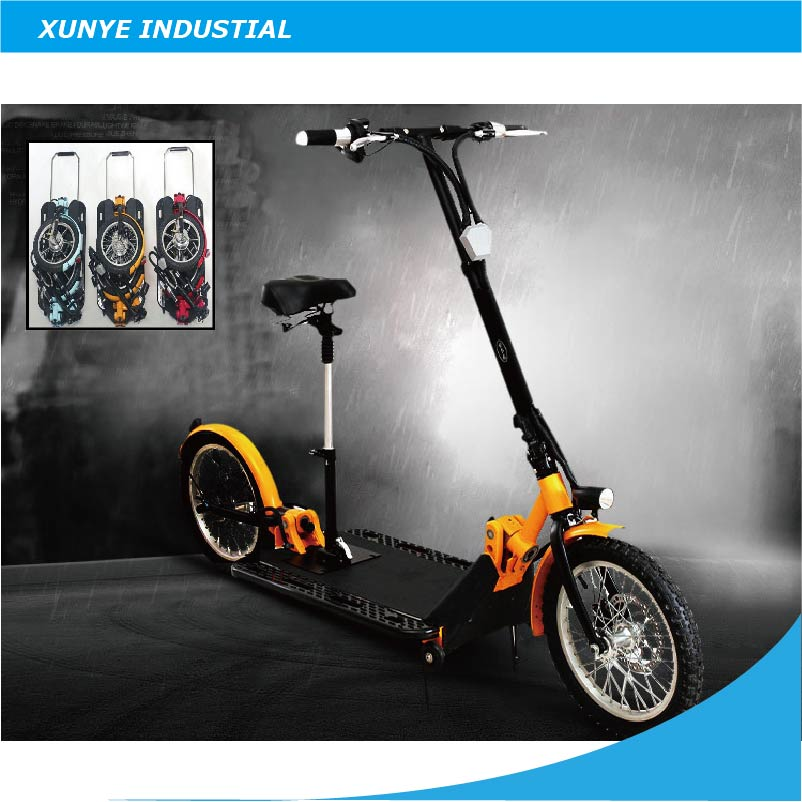 """New Design Adult Folding Electric Foldable Scootter, 16"""" Lithium Battery Two Wheels Foldable, Portable Electric Scooter(China (Mainland))"""