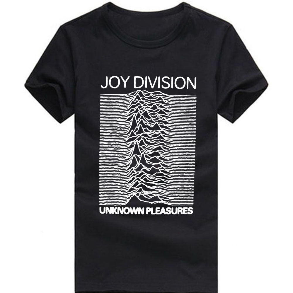 Euro Size Joy Division T Shirts Men Unknown Pleasure Post Punk Gothic t shirt Rock And