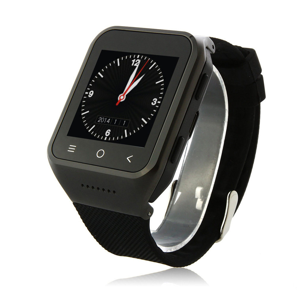 Android 4 4 3g smart watch phone mtk6572w dual core 1 54 inch 512mb
