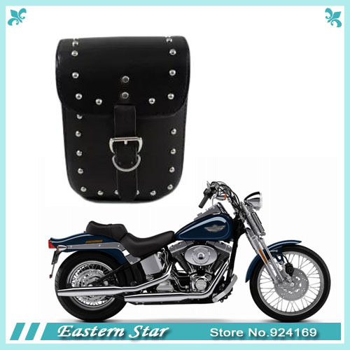 New Black Prince's Car Motorcycle Cruiser Side Box Tool Bag Imitation leather&Saddle Bags Tail Bags Top Cases One Piece(China (Mainland))