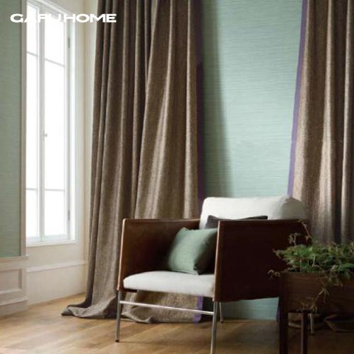 brief multi colored coarse hemp window curtain coffee green grey