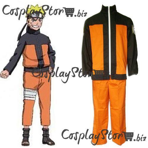 Naruto Jacket Naruto Shippuden Uzumaki Men's Naruto Cosplay Costume