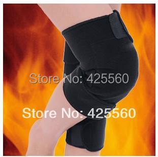 Tourmaline Self Heating Kneepads Magnetic Therapy Knee Support Tourmaline Heating Belt Knee Massage Relieve Knee Pain(China (Mainland))