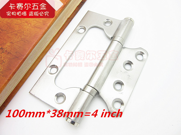 2pcs Stainless steel interior doors hinges quiet bearing folding hinge Lubricated bearings 4 inch(China (Mainland))