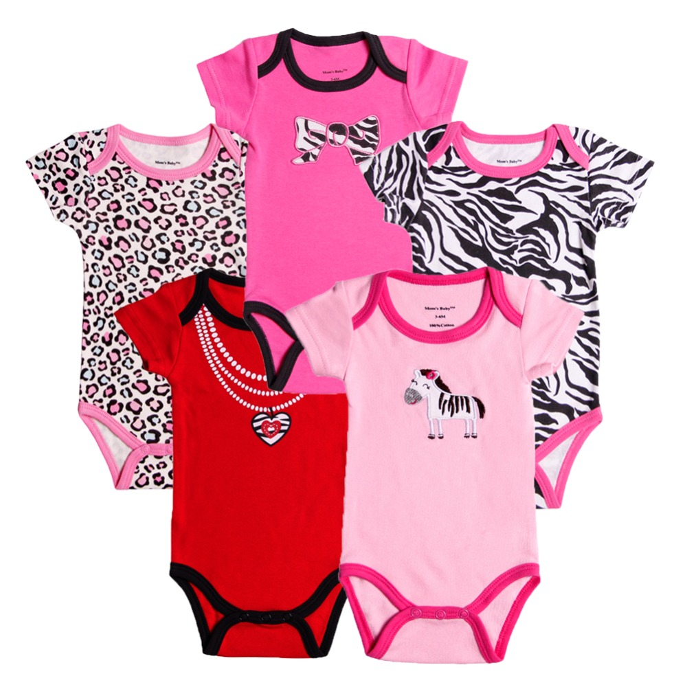 Baby Romper for Babies Newborns 5pcs/lot Boy Girl Jumpsuits Bebe Clothes Short sleeve 100%Cotton Clothing Free shipping<br><br>Aliexpress