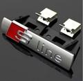 wholesale S Line Sline Front Grille Emblem Badge Chromed Plastic ABS Front grille mount for Audi