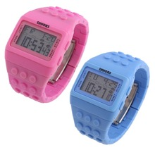 LS4G Free Shipping Retro Chic Unisex Digital Constructor Multi Function Digital Watch Colourful Spor