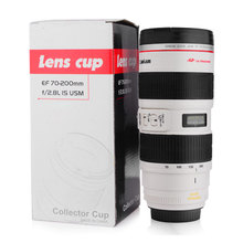 Simulation Camera Len Mug Stainless Steel Lens Cup Special Lid Caniam Camera Lens Coffee Mug Cup With Carry Pouch(China (Mainland))
