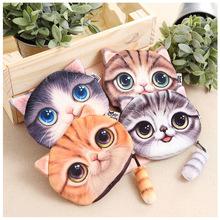 2016 New Small Tail Cat Coin Purse Cute Kids Cartoon Wallet Kawaii Bag Coin Pouch Children Purse Holder Women Coin Wallet(China (Mainland))