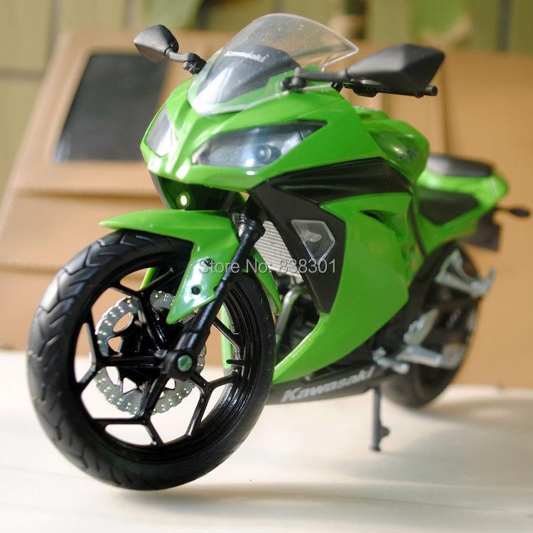 Free Shipping 1/12 Diecast Motorcycle Model Toys Kawasaki Ninja Green Metal Motorbike Model Toy For Gift/Kids/Children(China (Mainland))