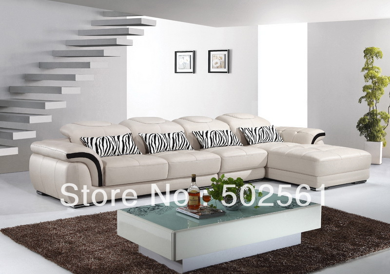 2014 new modern functional leather corner sofa leisure style living room furniture(China (Mainland))