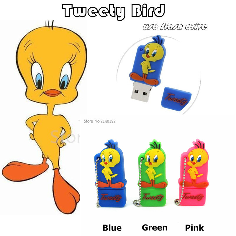 cute lovely Tweety Bird pen drive 32g pendrive 16g 8g 4g usb flash drive Looney Tunes flash memory stick USB2.0 real capacity(China (Mainland))