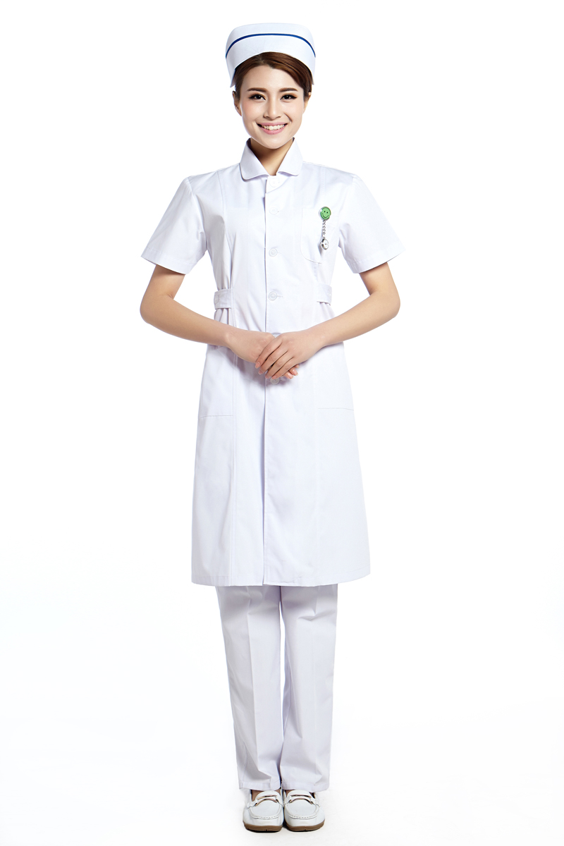 New Arrival Medical Clothing Scrubs White Gown Medical Scrubs Cotton Short Sleeve V Neck Hospital Scrubs Free Shipping(China (Mainland))