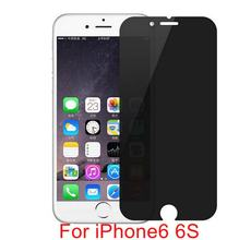 New Arrival Premium Anti-Spy Privacy Screen Protector For iPhone 6 6S 4.7 inch Tempered Glass Anty spy screen Film Guard