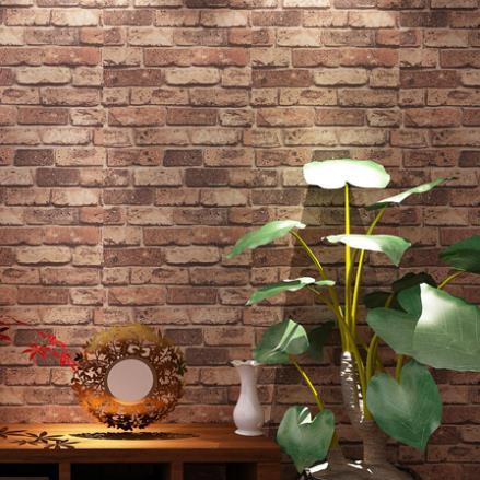 Vintage natural brick wallpaper 3d effect realistic faux for 3d effect wallpaper for walls