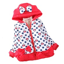 2015 new Girls Cartoon Children Winter Coat Jacket Factory Direct baby Girls boy Kid Children Clothing Retail 151210