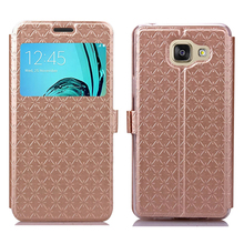Buy Smart View Window Flip PU Leather Case Samsung Galaxy A5 2016 A3 2016 Stand Wallet Mobile Phone Cases Back Cover for $3.56 in AliExpress store