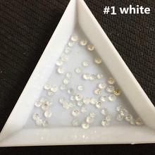 3mm white glitter 200pcs shine special Nail Art Decoration glitter stone resin beads(China (Mainland))