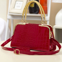 New arrive women leather handbag fashion women bag stone pattern shoulder bags Bride tote Europe style women messenger bags