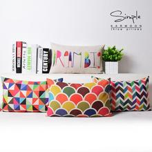 """Rainbow Dream"" Nordic Geometric pillow Cushion"