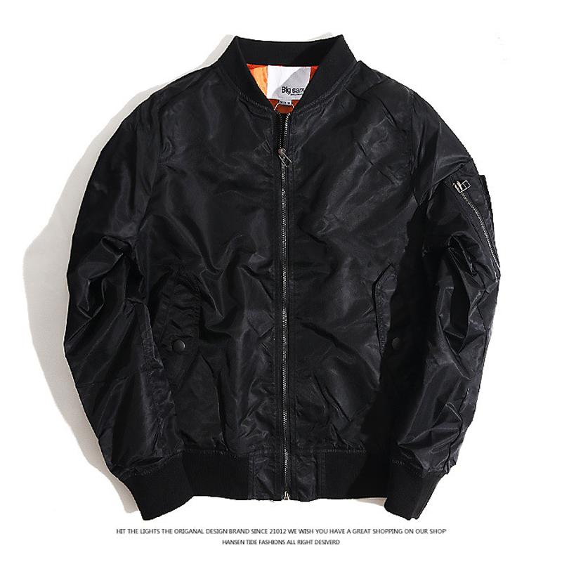 2016 men's fall and winter jacket military bomber jacket big yards thin section baseball jacket M-5XL WZ160(China (Mainland))