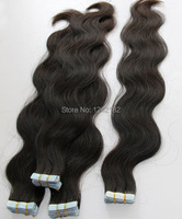 Tape hair extensions peruvian straight virgin hair 40 /trace #1B