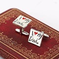 HSIC French Style I Love My Dad Cuff links Men s Shirts Accessories Cufflinks Jewelry For