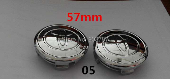 5styles 4pcs 57mm 62mm toyota wheel center caps hub cover car badges emblem For Yariz 07-12 and Prius 01-09 Camry Corolla