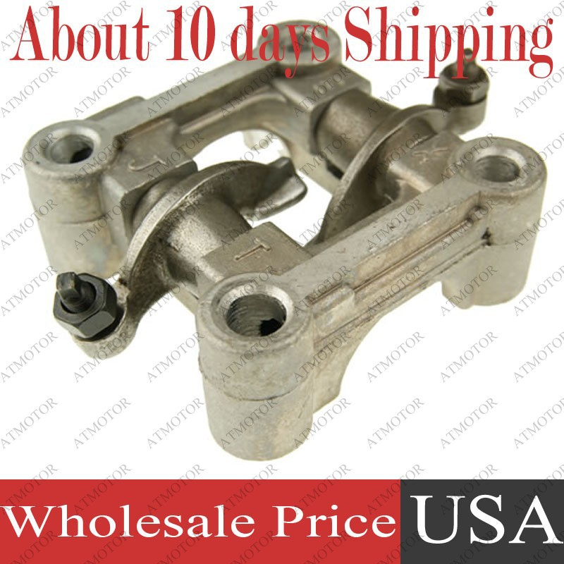 (10 sets a lot) GY6 50cc Cam shaft Holder bracket rocker Arms assy for 139QMB 139QMA 64mm Cylinder Head Valve Engine parts(China (Mainland))
