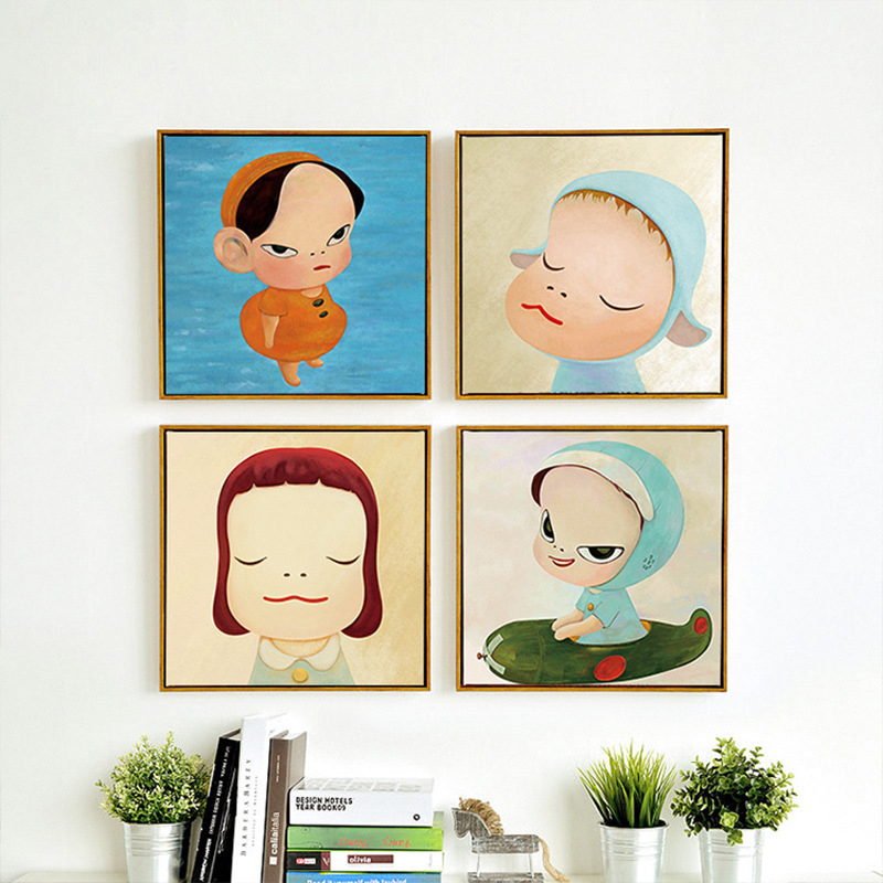 Simple cartoon drawings promotion shop for promotional for Cartoon mural painting