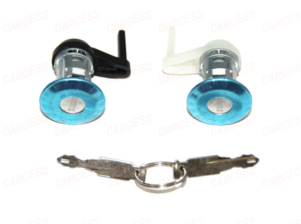 PEUGEOT 206 FRONT RIGHT LEFT DOOR LOCK CYLINDER WITH 2 SAME KEYS BRAND NEW(China (Mainland))