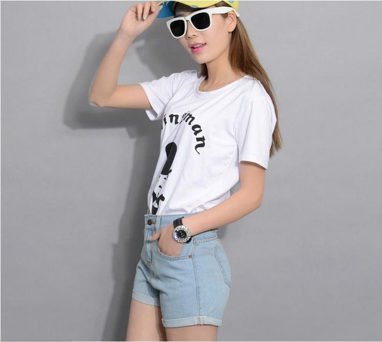 Summer New Women High Waist feminina Jeans Shorts Women Fashion Solid Denim Shorts Women Fitting Shorts From XS-XXXL(China (Mainland))