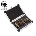 Jelbo 5PCS Step Drill Bit Set Power Tools Drill Bit Power Tools HSS Cobalt Multiple Hole