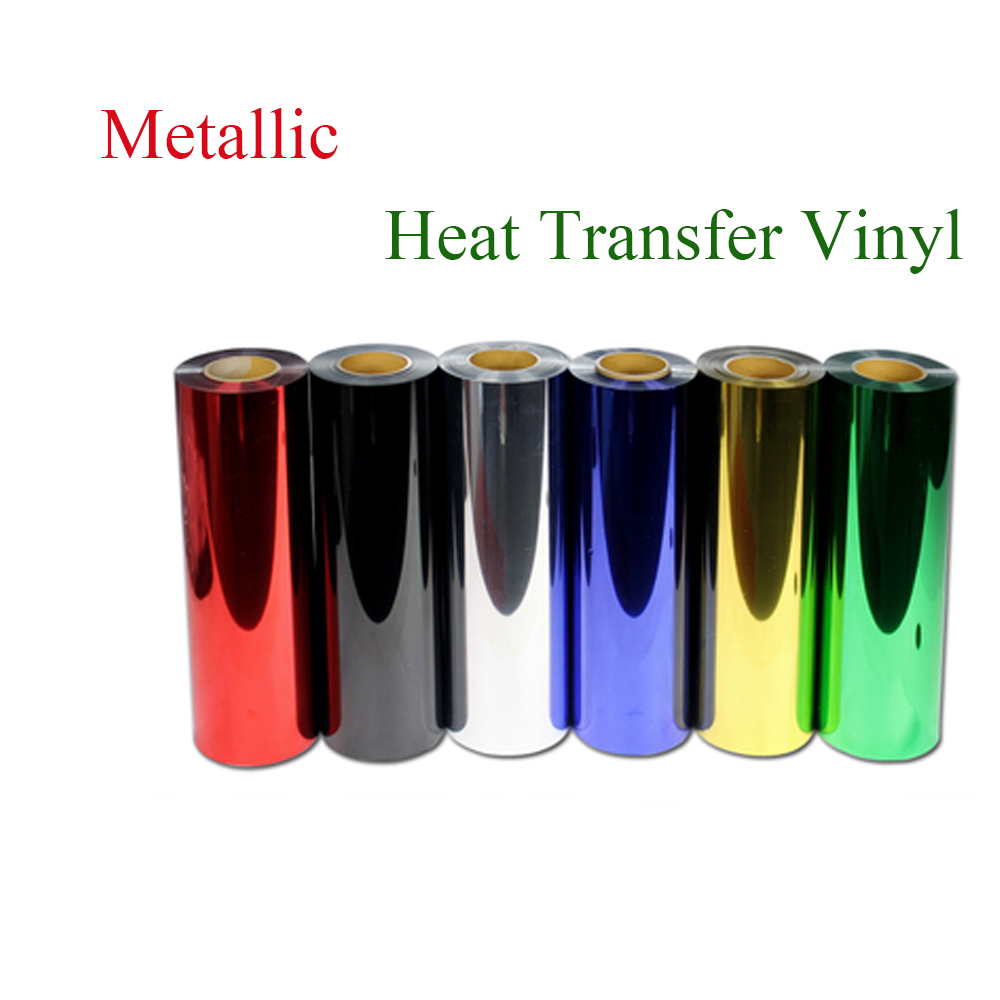 Premium Metallic heat transfer film for shirts,Heat Transfer Vinyl, metal transfer vinyl pu film with size:50cm*100cm/roll(China (Mainland))