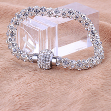 Wholesale Free Delivery Ladies's Silver Crystal Bracelet Finest Design Style Bracelets For Ladies