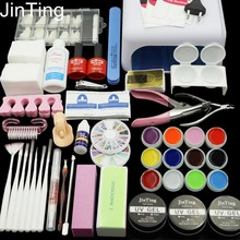 Nail Gel Polish Tools Pro 36W UV GEL White Lamp with 12 Color Nail Art Kits manicure set Fashion(China (Mainland))
